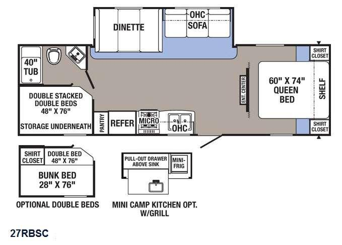 Puma XLE 27RBSC Floorplan Image