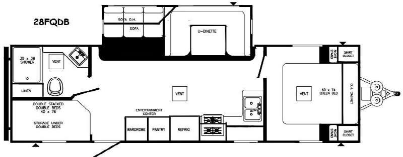 Puma XLE 28FQDB Floorplan Image