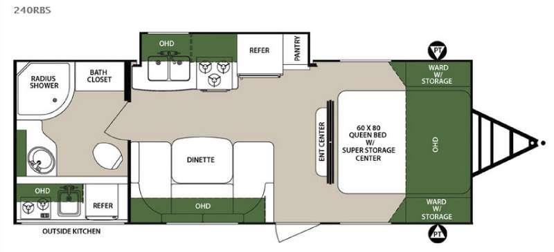 Surveyor 240RBS Floorplan Image