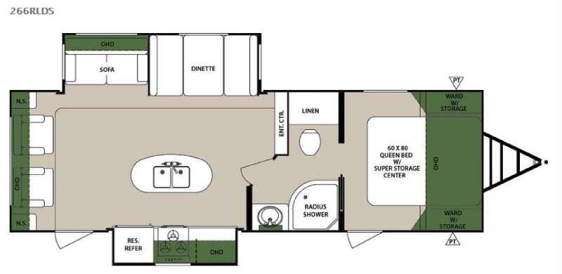 Surveyor 266RLDS Floorplan Image