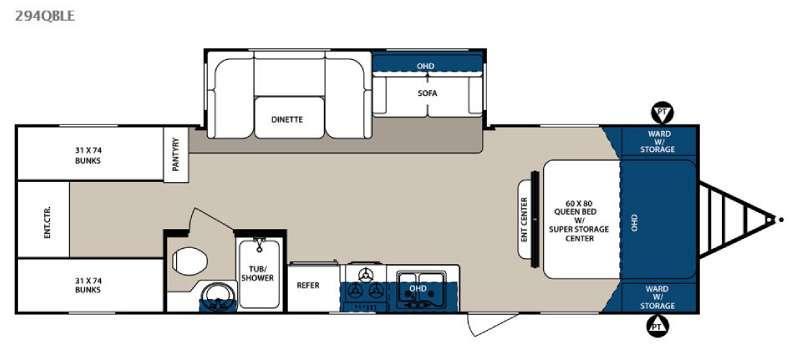 Surveyor 294QBLE Floorplan Image