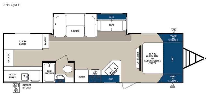Floorplan - 2017 Forest River RV Surveyor 295QBLE