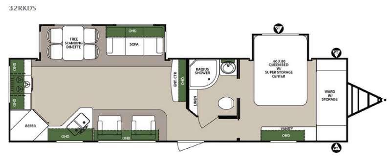 Surveyor 32RKDS Floorplan Image