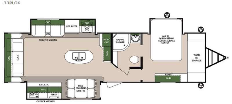 Surveyor 33RLOK Floorplan Image