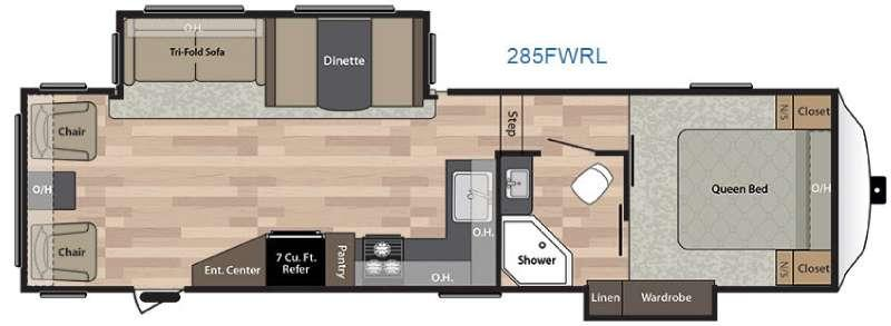 Floorplan - 2017 Keystone RV Springdale 285FWRL