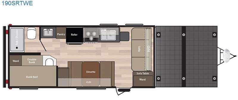 Springdale 190SRTWE Floorplan Image