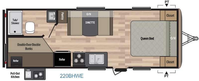 Springdale 220BHWE Floorplan Image