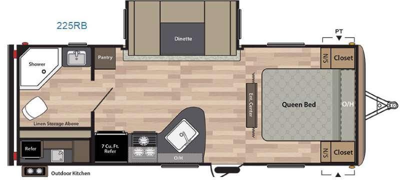 Springdale 225RB Floorplan Image