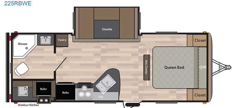 Springdale 225RBWE Floorplan Image