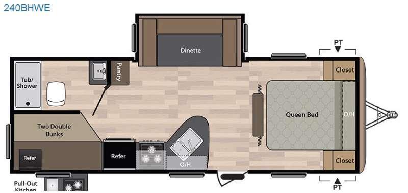Springdale 240BHWE Floorplan Image