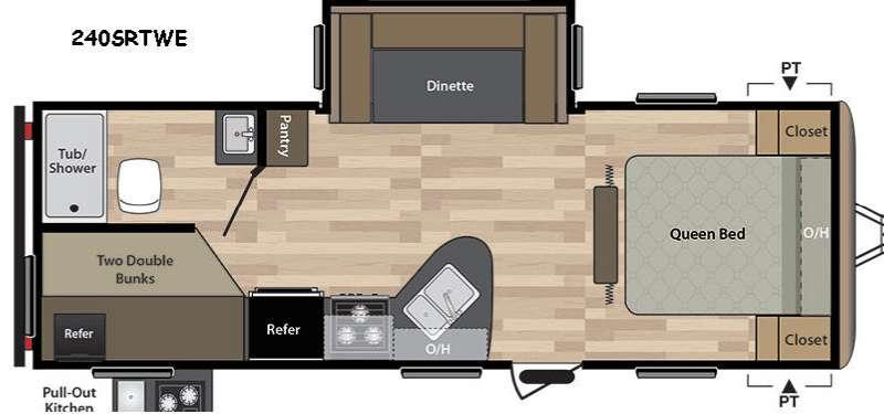 Springdale 240SRTWE Floorplan Image