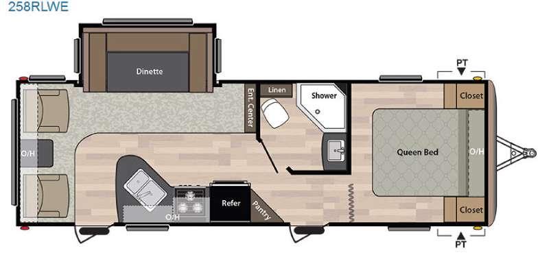 Springdale 258RLWE Floorplan Image