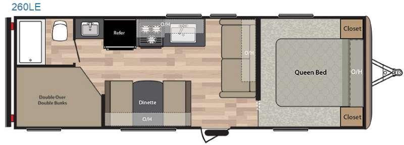Springdale 260LE Floorplan Image