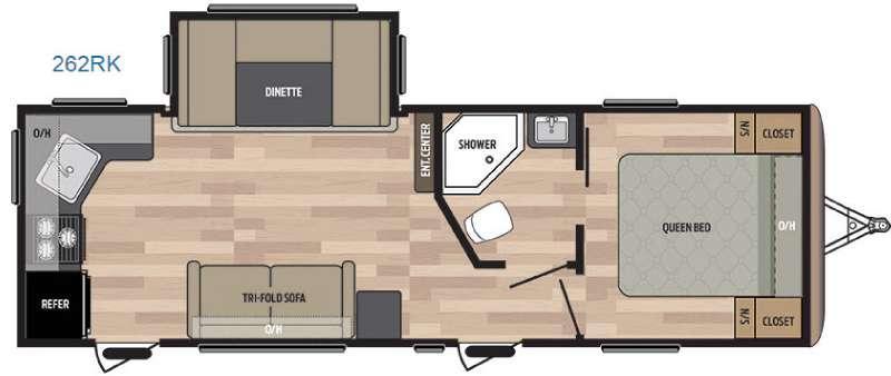 Springdale 262RK Floorplan Image