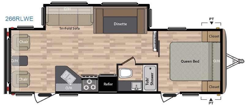 Springdale 266RLWE Floorplan Image