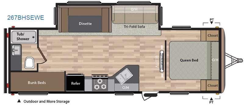 Springdale 267BHSEWE Floorplan Image