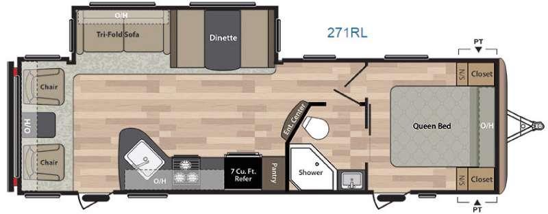 Floorplan - 2017 Keystone RV Springdale 271RL