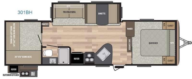 Springdale 301BH Floorplan Image