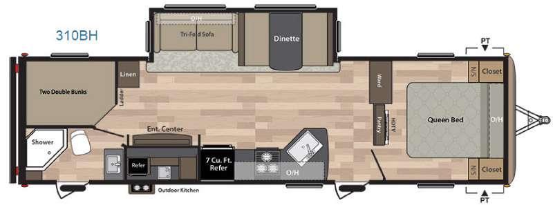 Floorplan - 2017 Keystone RV Springdale 310BH