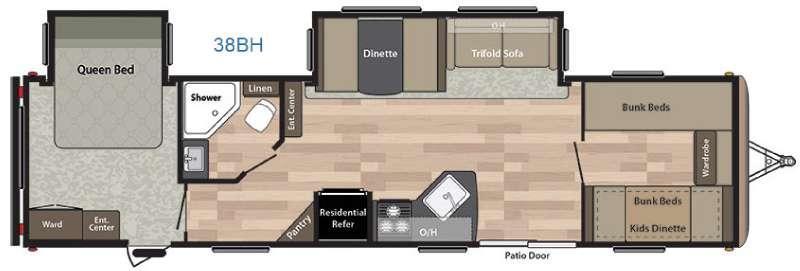 Springdale 38BH Floorplan Image