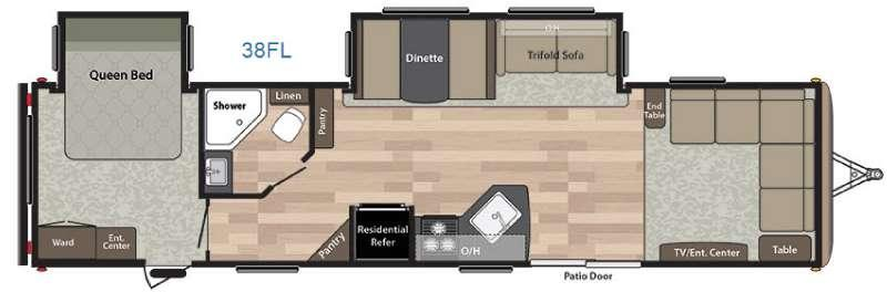 Springdale 38FL Floorplan Image
