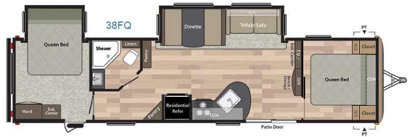 Springdale 38FQ Floorplan Image