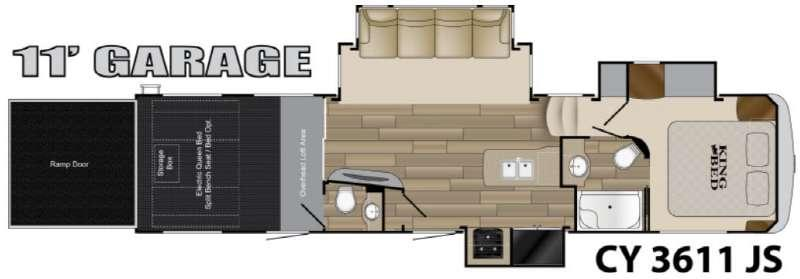 Floorplan - 2017 Heartland Cyclone 3611JS