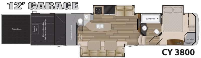 Floorplan - 2017 Heartland Cyclone 3800