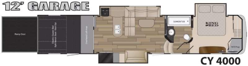 Floorplan - 2017 Heartland Cyclone 4000 Elite