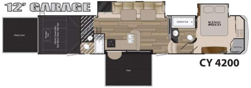 Floorplan - 2017 Heartland Cyclone 4200