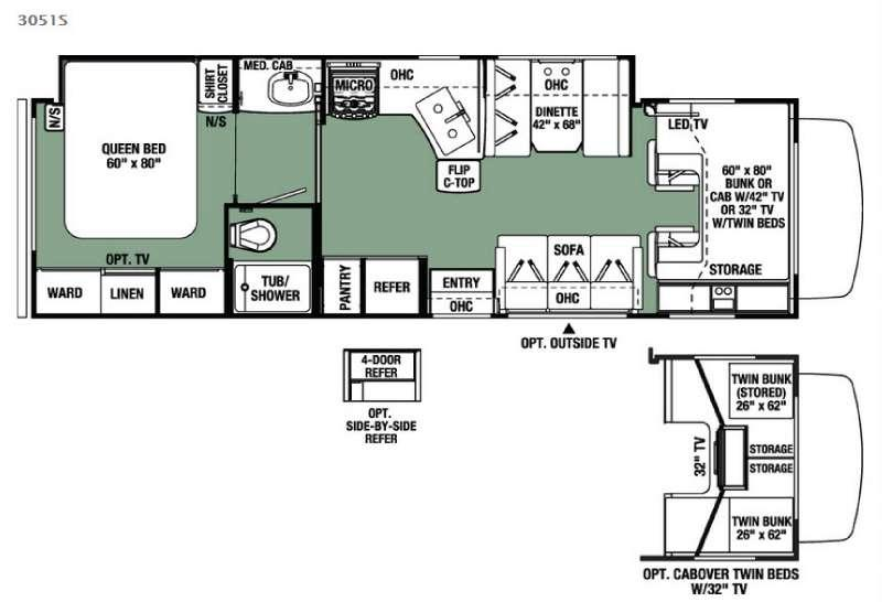 Floorplan - 2016 Forest River RV Forester 3051S Ford