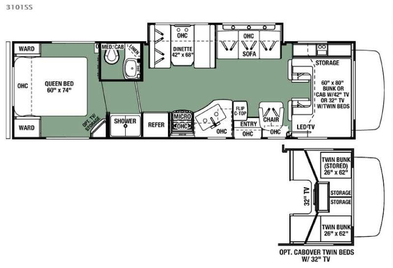 Floorplan - 2017 Forest River RV Forester 3101SS Ford
