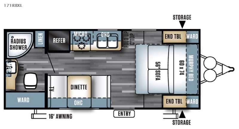 Floorplan - 2016 Forest River RV Salem Cruise Lite 171RBXL