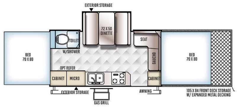 Flagstaff High Wall HW31SCTH Floorplan Image