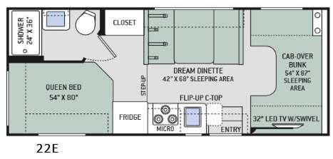 Chateau 22E Floorplan Image