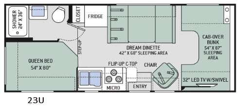 Chateau 23U Floorplan Image
