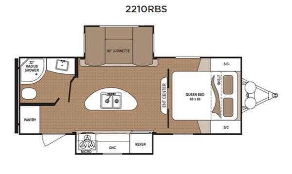 Floorplan - 2017 Dutchmen RV Aspen Trail 2210RBS