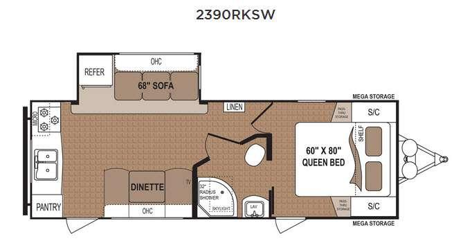 Floorplan - 2017 Dutchmen RV Aspen Trail 2390RKSW