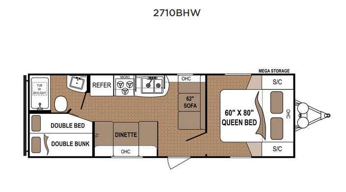 Floorplan - 2017 Dutchmen RV Aspen Trail 2710BHW