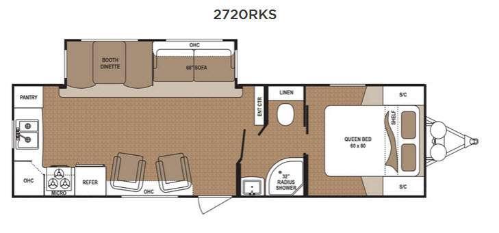 Aspen Trail 2720RKS Floorplan Image