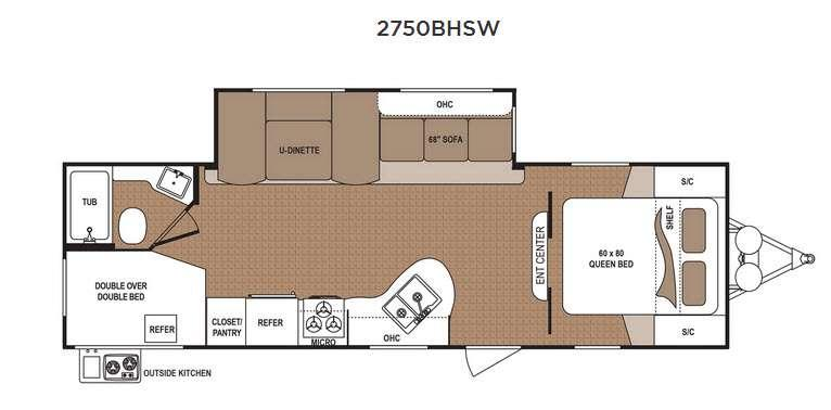 Floorplan - 2017 Dutchmen RV Aspen Trail 2750BHSW