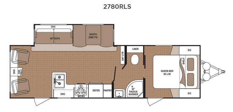 Floorplan - 2017 Dutchmen RV Aspen Trail 2780RLS