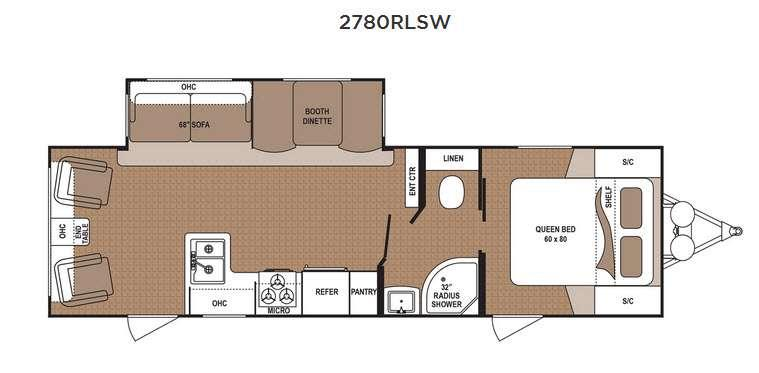Floorplan - 2017 Dutchmen RV Aspen Trail 2780RLSW