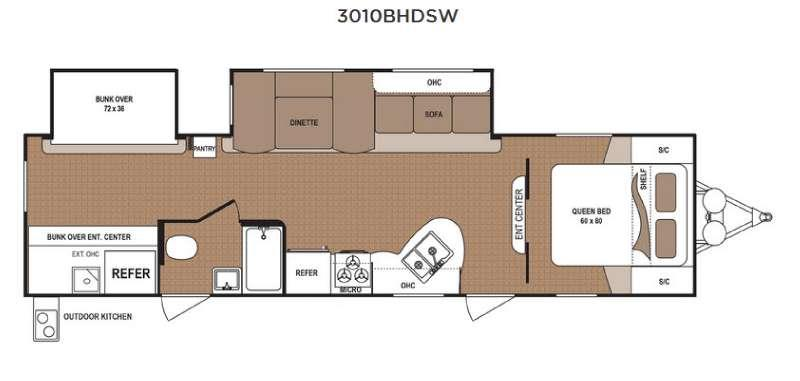 Floorplan - 2017 Dutchmen RV Aspen Trail 3010BHDSW