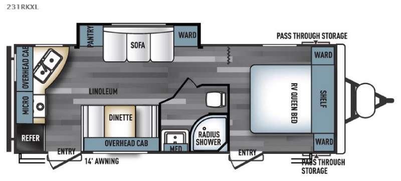 Salem Cruise Lite 231RKXL Floorplan Image