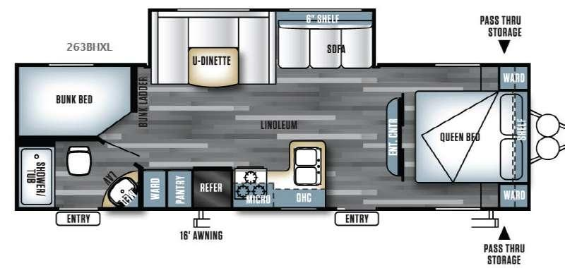 Salem Cruise Lite 263BHXL Floorplan Image