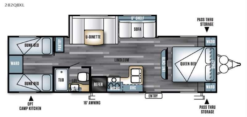 Salem Cruise Lite 282QBXL Floorplan Image