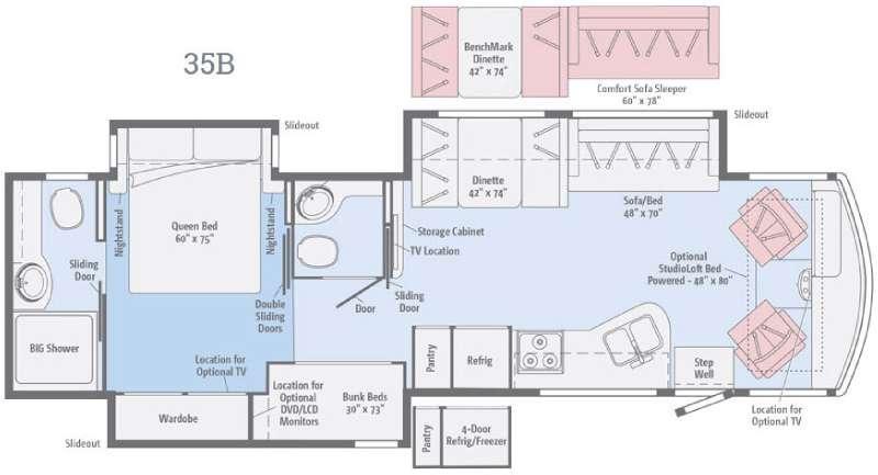 Sunstar LX 35B Floorplan Image