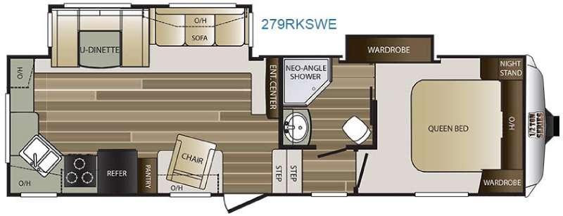 Cougar Half-Ton Series 279RKSWE Floorplan Image