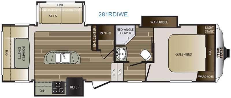 Cougar Half-Ton Series 281RDIWE Floorplan Image